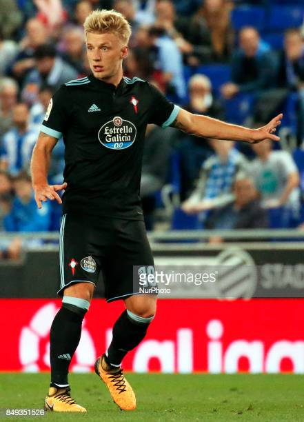 Daniel Wass during La Liga match between RCD Espanyol v Celta in Barcelona on September 18 2017