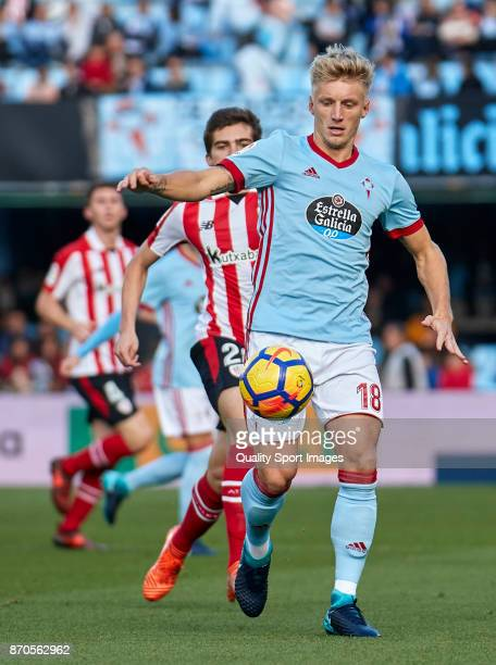 Daniel Wass of Celta de Vigo in action during the La Liga match between Celta de Vigo and Athletic Club at Balaidos Stadium on November 5 2017 in...