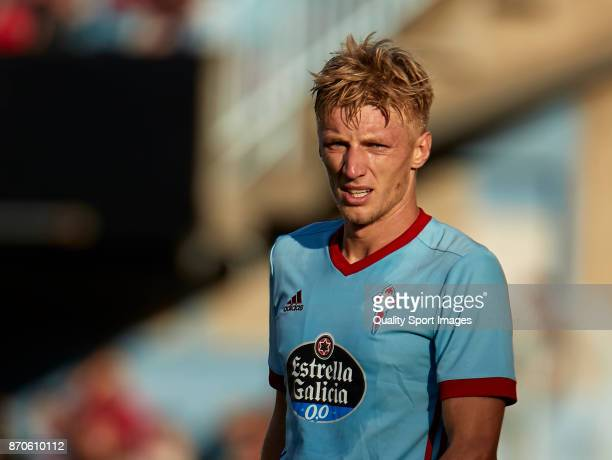 Daniel Wass of Celta de Vigo looks on during the La Liga match between Celta de Vigo and Athletic Club at Balaidos Stadium on November 5 2017 in Vigo...