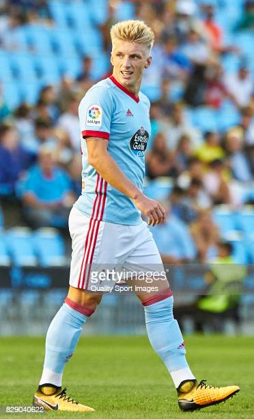 Daniel Wass of Celta de Vigo looks on during the Pre Season Friendly match between Celta de Vigo and Udinese Calcio at Balaidos Stadium on August 9...