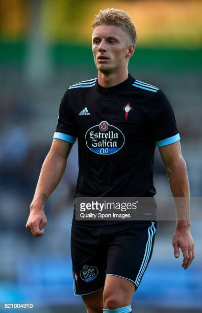 Daniel Wass of Celta de Vigo looks on during the preseason friendly match between Celta de Vigo and Racing de Ferrol at A Malata Stadium on July 22...