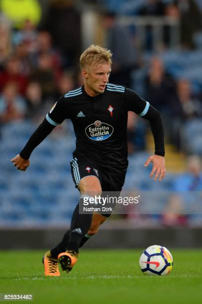 Daniel Wass of Celta Vigo in action during the preseason friendly match between Burnley and Celta Vigo at Turf Moor on August 1 2017 in Burnley...