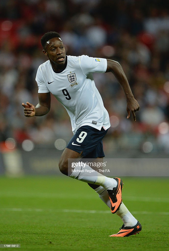 Daniel Welbeck of England in action during the FIFA 2014 World Cup Qualifying Group H match between England and Moldova at Wembley Stadium on September 6, 2013 in London, England.