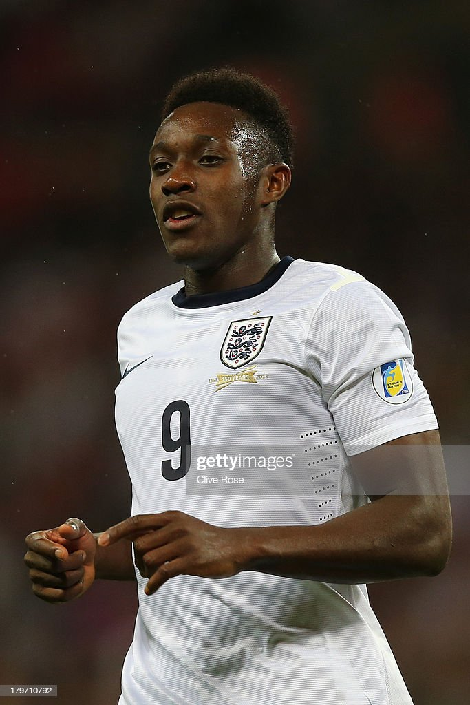 Daniel Welbeck of England looks on during the FIFA 2014 World Cup Qualifying Group H match between England and Moldova at Wembley Stadium on September 6, 2013 in London, England.