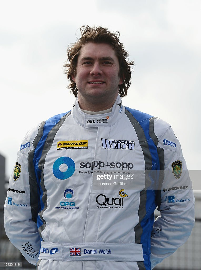 Daniel Welch of Welch Motorsport with Sopp+ Sopp poses for a portrait during the BTCC Media Day at Donington Park on March 21, 2013 in Castle Donington, England.