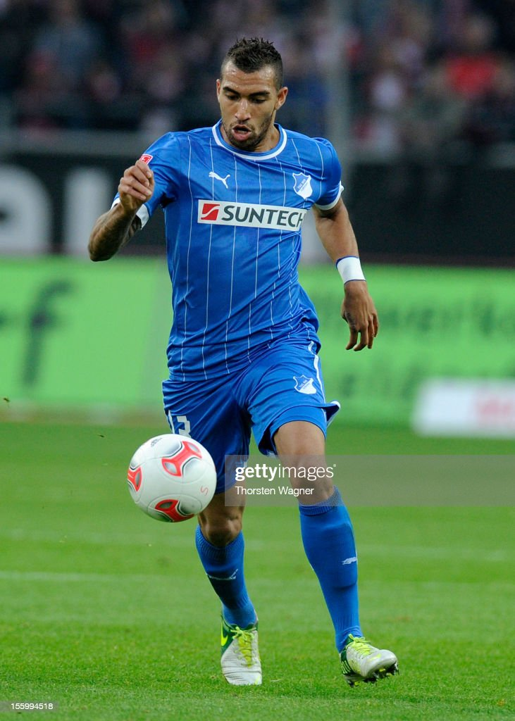 Daniel Williams of Hoffenheim runs with the ball during the Bundesliga march between Fortuna Duesseldorf and TSG 1899 Hoffenheim at Esprit-Arena on November 10, 2012 in Duesseldorf, Germany.