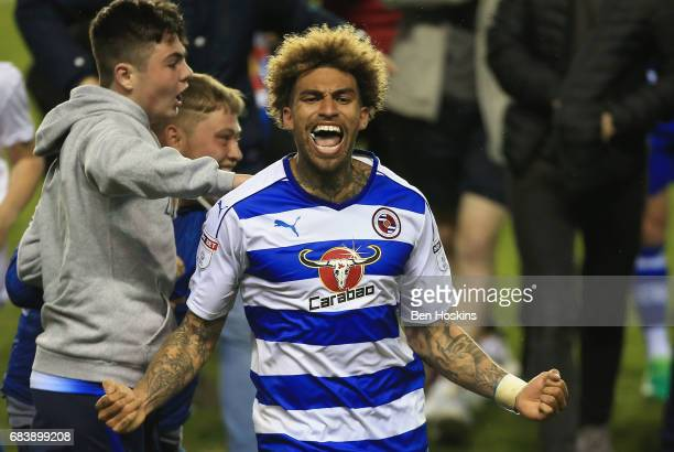 Daniel Williams of Reading celerbrates after during the Sky Bet Championship Play Off Second Leg match between Reading and Fulham at Madejski Stadium...