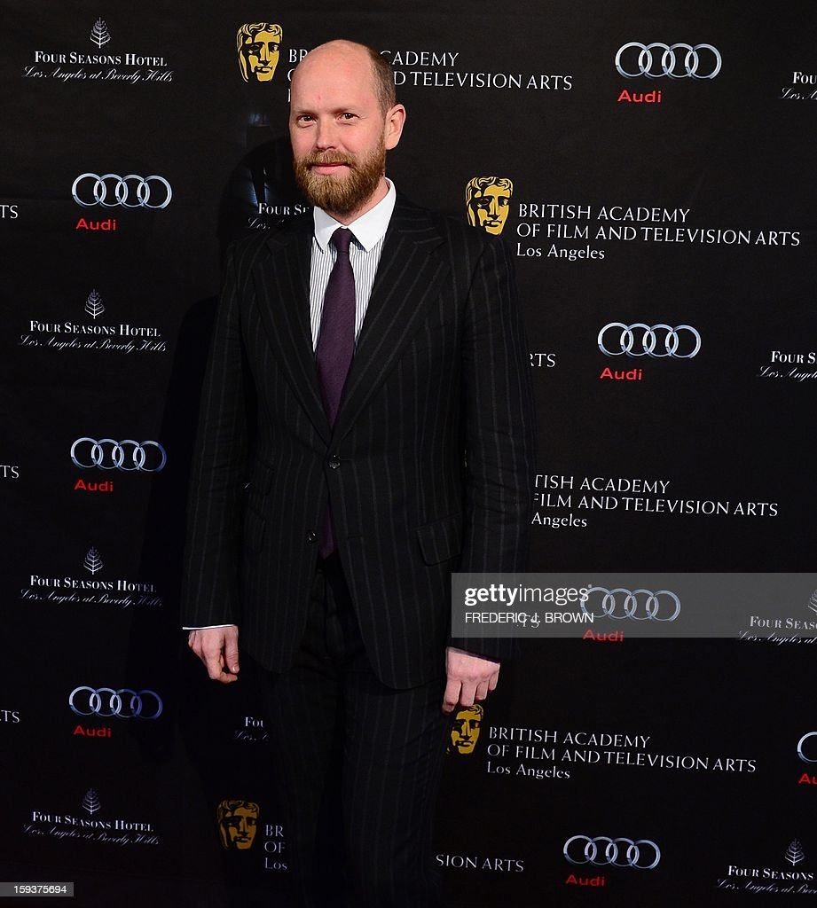 Daniel Wingate poses on arrival for the British Academy of Film and Television Arts (BAFTA) Los Angeles Awards Season Tea Party on January 12, 2013 in Beverly Hills, California. AFP PHOTO / Frederic J. BROWN