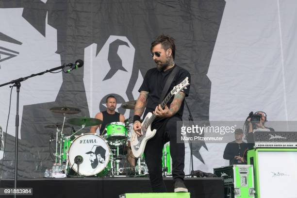 Daniel Wirtz performs on stage during the second day of 'Rock am Ring' on June 3 2017 in Nuerburg Germany