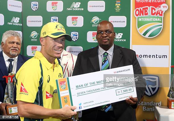 Daniel Worrall of Australia during the Momentum ODI Series 5th ODI match between South Africa and Australia at PPC Newlands on October 12 2016 in...
