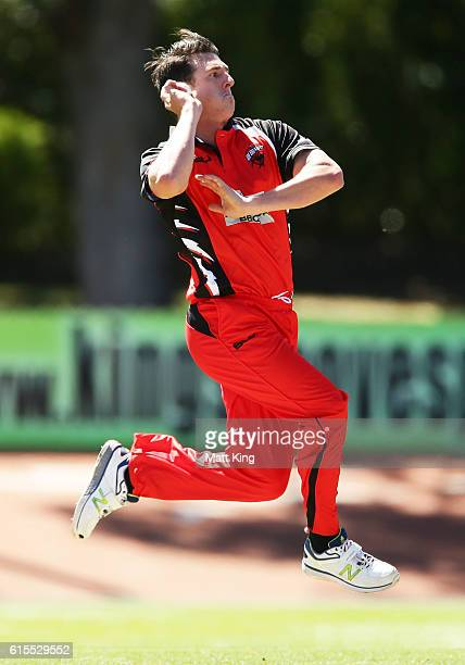 Daniel Worrall of the Redbacks bowls during the Matador BBQs One Day Cup match between South Australia and Tasmania at Hurstville Oval on October 19...