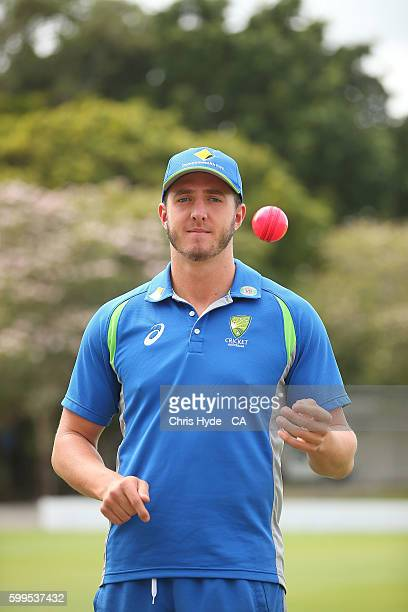 Daniel Worrall poses during an Australia A media opportunity at Allan Border Field on September 6 2016 in Brisbane Australia