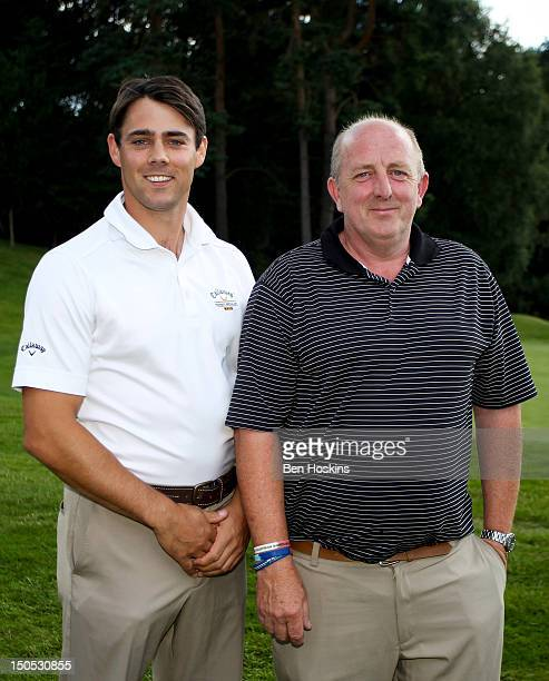 Daniel Young and George Elliot of Wolrdingham Golf Club pose after winning the pairs event during the Regional Final of the Virgin Atlantic PGA...