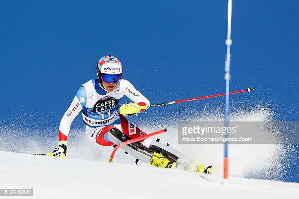 Daniel Yule of Switzerland competes during the Audi FIS Alpine Ski World Cup Finals Men's Slalom and Women's Giant Slalom on March 20 2016 in St...