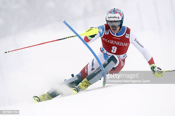 Daniel Yule of Switzerland competes during the Audi FIS Alpine Ski World Cup Men's Slalom on November 13 2016 in Levi Finland