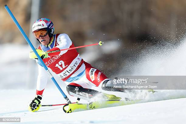 Daniel Yule of Switzerland competes during the Audi FIS Alpine Ski World Cup Men's Slalom on December 11 2016 in Vald'Isere France