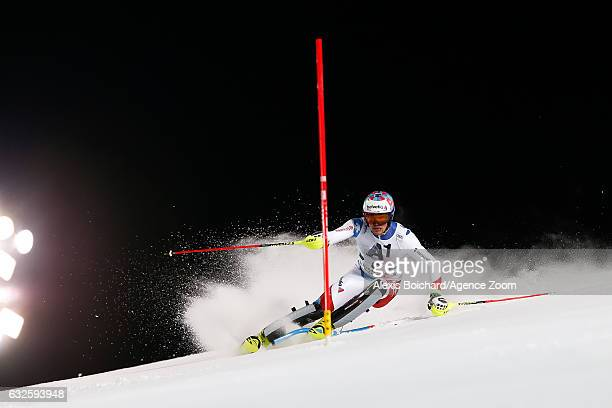 Daniel Yule of Switzerland competes during the Audi FIS Alpine Ski World Cup Men's Slalom on January 24 2017 in Schladming Austria