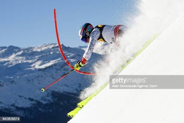 Daniel Yule of Switzerland competes during the FIS Alpine Ski World Championships Men's Slalom on February 19 2017 in St Moritz Switzerland