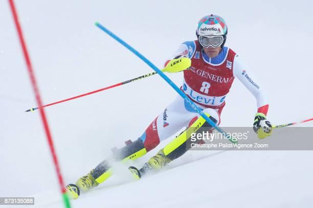 Daniel Yule of Switzerland during the Audi FIS Alpine Ski World Cup Men's Slalom on November 12 2017 in Levi Finland
