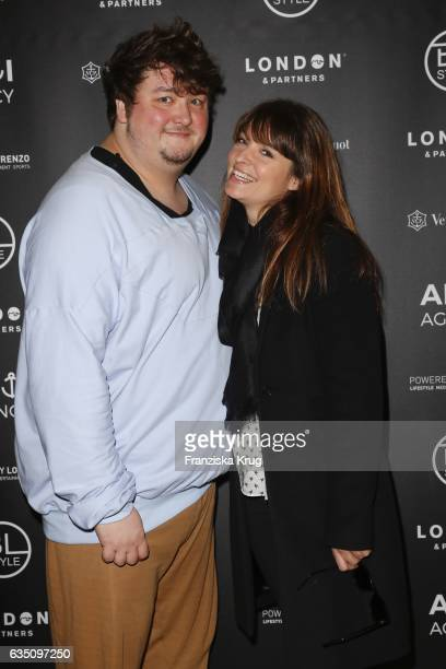 Daniel Zillmann and Ina Paule Klink attend the Ahoi Agency Reception Tea Time And Champagne In Berlin Mitte on February 13 2017 in Berlin Germany