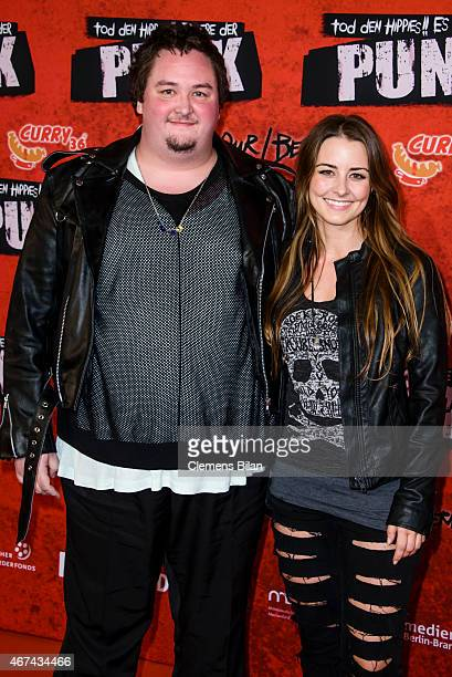 Daniel Zillmann and Luisa Wietzorek attends the premiere of the film 'Tod den Hippies Es lebe der Punk' at UCI Kinowelt on March 24 2015 in Berlin...