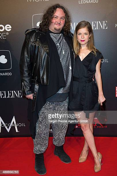 Daniel Zillmann and Luise Helm attend the 'New Faces Award Film 2014' at eWerk on May 8 2014 in Berlin Germany