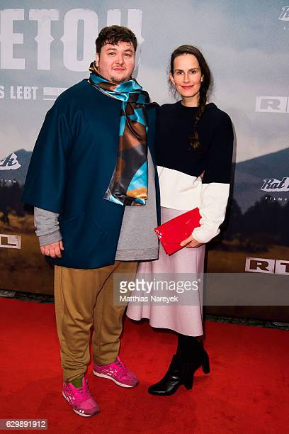Daniel Zillmann and Saralisa Volm attend the 'Winnetou Eine neue Welt' premiere at Delphi on December 14 2016 in Berlin Germany