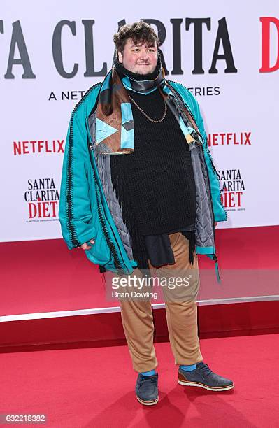 Daniel Zillmann arrives at the premiere of Netflix's Santa Clarita Diet at CineStar on January 20 2017 in Berlin Germany