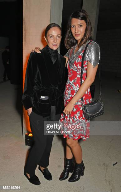 Daniela Agnelli and Hikari Yokoyama attend The Veuve Clicquot Widow Series By Carine Roitfeld And CR Studio on October 19 2017 in London England