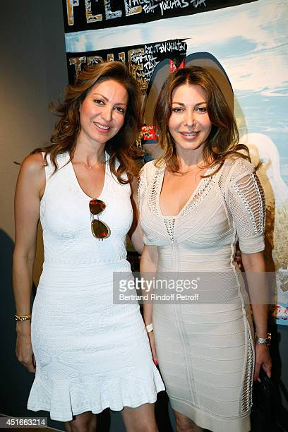 Daniela Benhamou and her sister Eva H Benhamou attend 'Le Coeur Des Createurs' Auction at Christie's on July 3 2014 in Paris France
