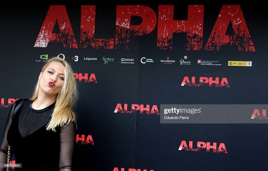 Daniela Blume attends 'Alpha' press conference photocall at Princesa cinema on October 28, 2013 in Madrid, Spain.