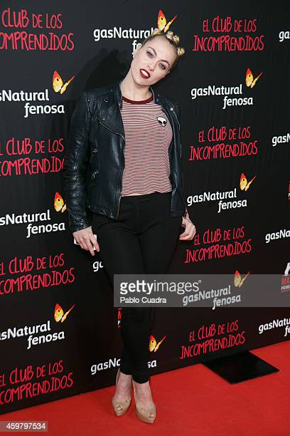 Daniela Blume attends 'El Club de los Incomprendidos' Premiere on December 1 2014 in Madrid Spain