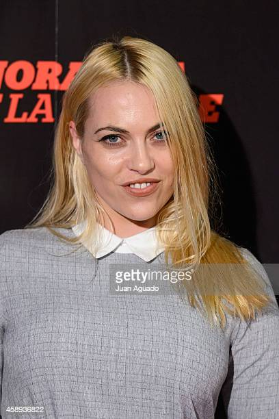 Daniela Blume attends 'La Ignorancia de la Sangre' Madrid Premiere at the Capitol Cinema on November 13 2014 in Madrid Spain