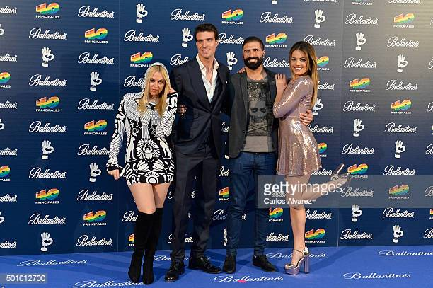 Daniela Blume Uri Sabat Jorge Cremades and Alyson Rae Eckmann attend the 40 Principales Awards 2015 photocall at the Barclaycard Center on December...