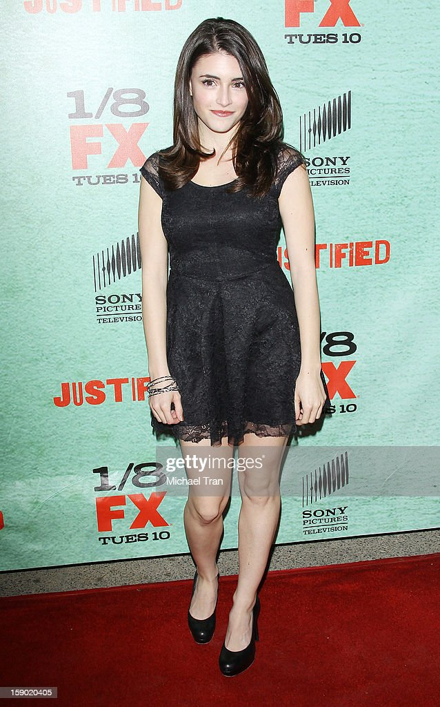 Daniela Bobadilla arrives at season 4 premiere of FX's 'Justified' held at Paramount Theater on the Paramount Studios lot on January 5, 2013 in Hollywood, California.