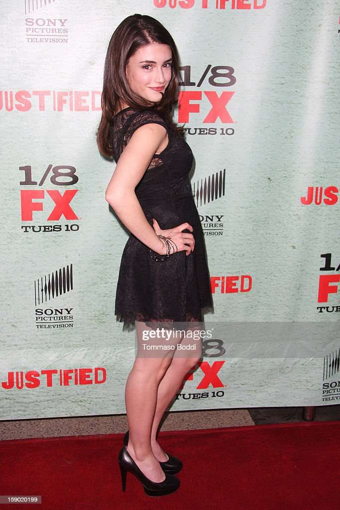Daniela Bobadilla attends the FX's 'Justified' season 4 premiere held at Paramount Theater on the Paramount Studios lot on January 5, 2013 in Hollywood, California.