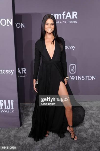 Daniela Braga attends the amfAR New York Gala 2017 sponsored by FIJI Water at Cipriani Wall Street on February 8 2017 in New York City