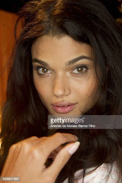 Daniela Braga poses backstage at the annual Victoria's Secret fashion show at Earls Court on December 2 2014 in London England