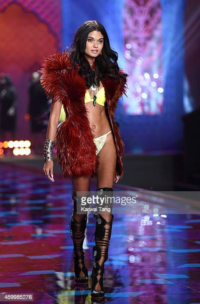 Daniela Braga walks the runway at the annual Victoria's Secret fashion show at Earls Court on December 2 2014 in London England