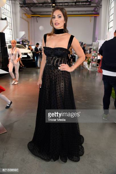 Daniela Dany Michalski attends the Thomas Rath show during Platform Fashion July 2017 at Areal Boehler on July 23 2017 in Duesseldorf Germany