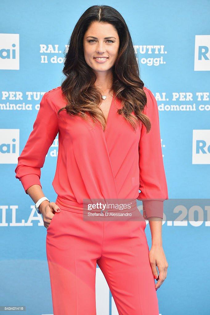 Daniela Ferolla attends Rai Show Schedule Presentation In Milan on June 28, 2016 in Milan, Italy.