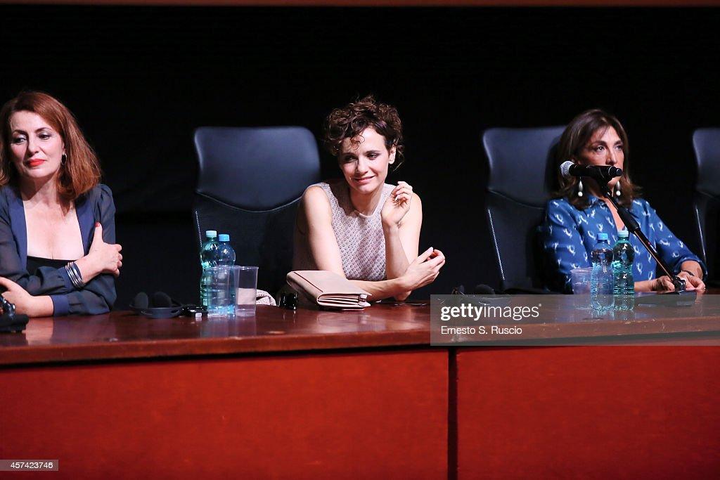 Daniela Giordano Camilla Filippi and Anna Bonaiuto attend the 'Buoni A Nulla' Press Conference during the 9th Rome Film Festival on October 18 2014...