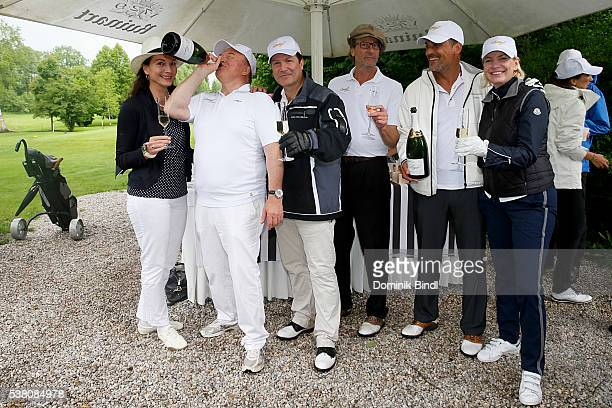 Daniela Hain Heinz Winkler Francis FultonSmith Michael von Au Marcus Gruesser and Martina Kraetz attend the 2016 Davidoff Tour Gastronomique at golf...