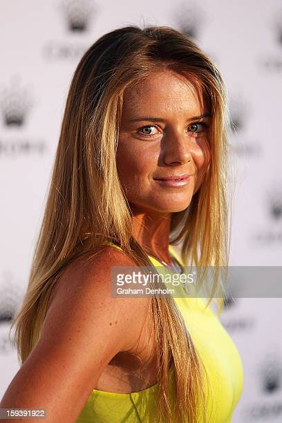 Daniela Hantuchova arrives at Crown's IMG Tennis Player's Party at Crown Towers on January 13 2013 in Melbourne Australia