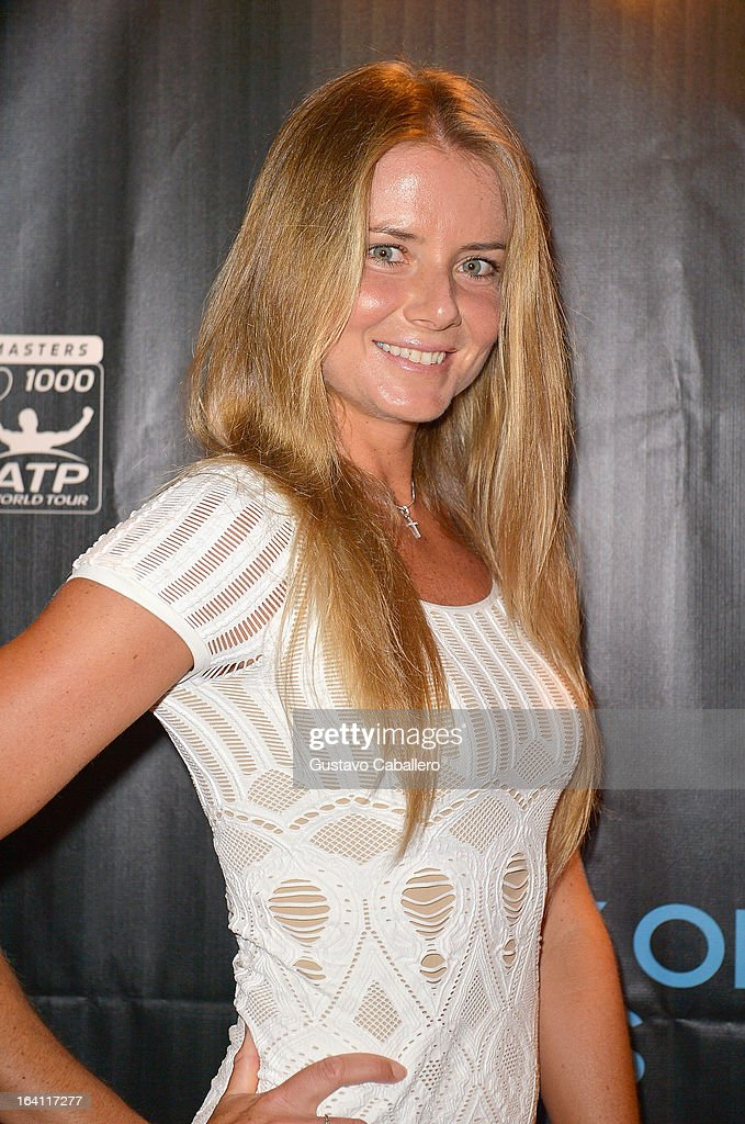 Daniela Hantuchova arrives at Sony Open Player Party 2013 at JW Marriott Marquis on March 19, 2013 in Miami, Florida.