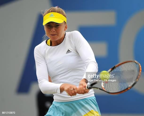 Daniela Hantuchova during her final against Donna Vekic during the AEGON Classic at Edgbaston Priory Birmingham