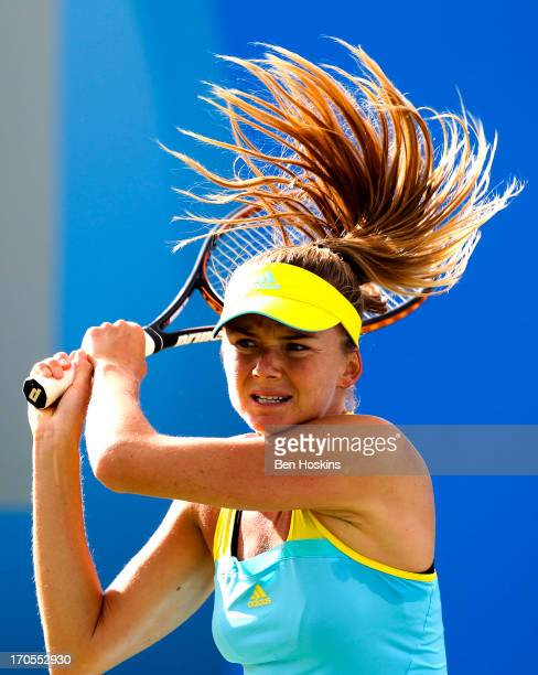 Daniela Hantuchova of Slovakia in action during day six of the AEGON Classic tennis tournament at Edgbaston Priory Club on June 14 2013 in Birmingham...