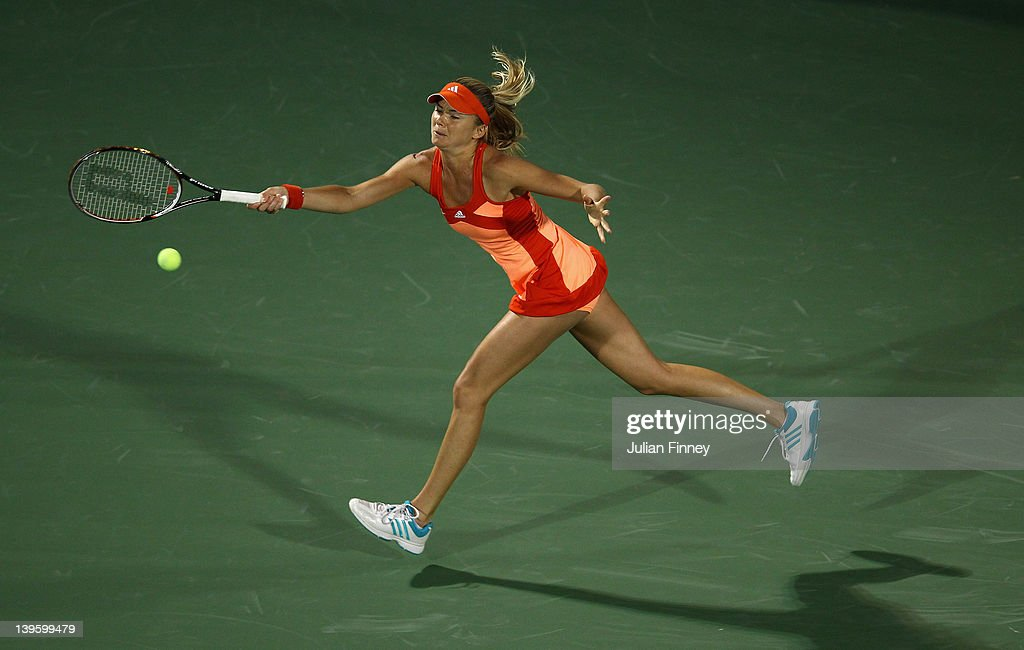 <a gi-track='captionPersonalityLinkClicked' href=/galleries/search?phrase=Daniela+Hantuchova&family=editorial&specificpeople=201969 ng-click='$event.stopPropagation()'>Daniela Hantuchova</a> of Slovakia in action in her match against Julia Goerges of Germany during day four of the WTA Dubai Duty Free Tennis Championship on February 23, 2012 in Dubai, United Arab Emirates.