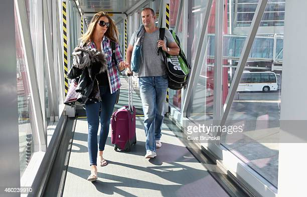 Daniela Hantuchova of the Singapore Slammers at Delhi airport for the private players flight from DelhiIndia to Dubai prior to the CocaCola...