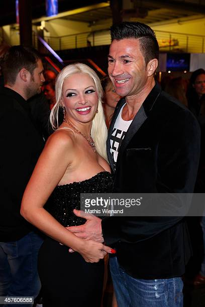 Daniela Katzenberger and her boyfriend Lucas Cordalis attend the 18th Annual German Comedy Awards at Coloneum on October 21 2014 in Cologne Germany...